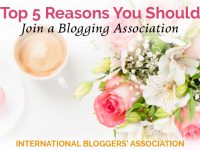 Learn the top five reasons you should join a blogging association so your blog can grow among all the masses of blogs today! Plus, learn my favorite one.
