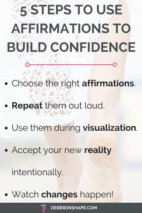 affirmations to build confidence productivity 5 steps