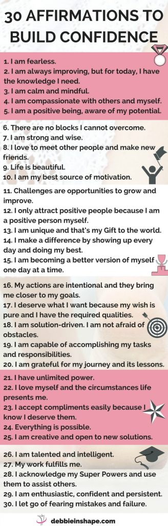 affirmations to build confidence productivity