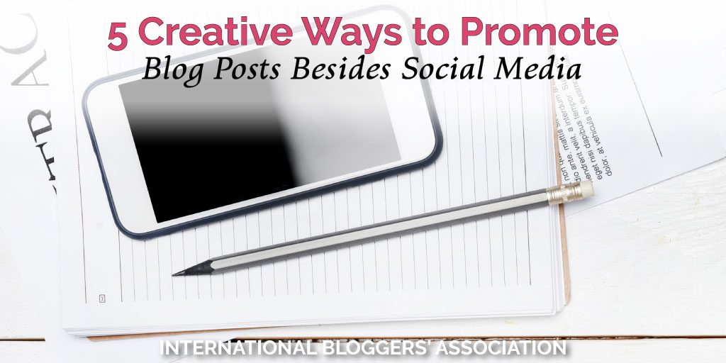 Here are 5 creative ways to promote blog posts other than sharing on social media. Use these methods to alleviate boredom and increase traffic sources! #blogggingtips