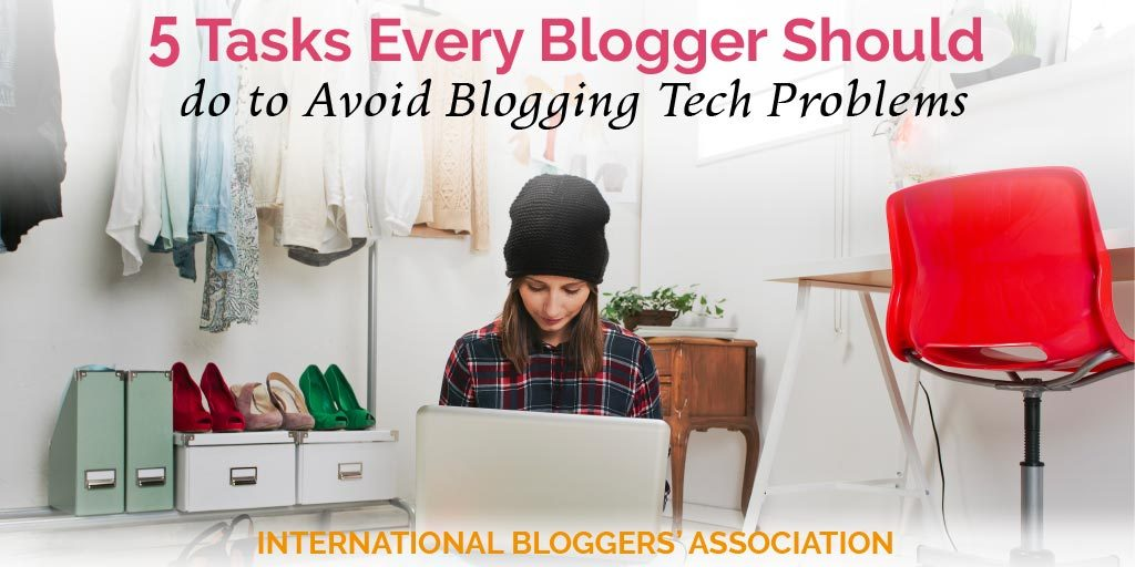 Blogging tech problems can rack havoc on even the most seasoned bloggers! With these five tasks, you will be well on your way to avoiding pitfalls that can lead to blogging problems that can last hours if not weeks. #bloggingtips #bloggingtech