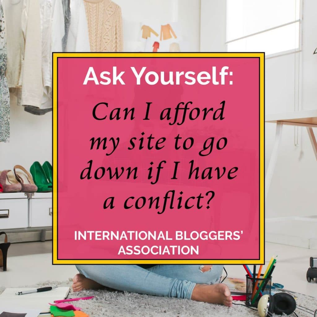 can I afford my site to go down if I have a conflict?