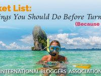 "woman snorkeling with text ""Bucket List 35 Things You Should Do Before Turning 35"""