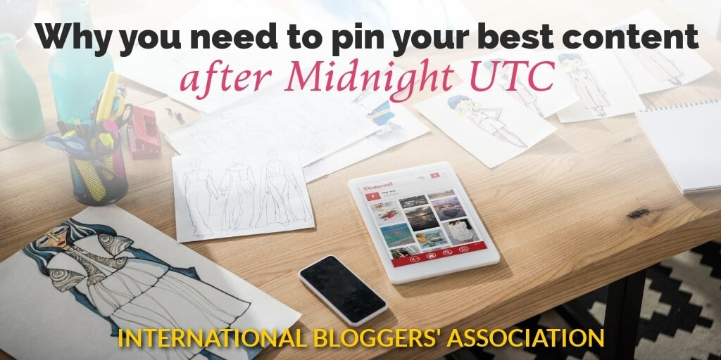 iPad on desk with text 'Why You Need to Pin Your Best Content after Midnight UTC'