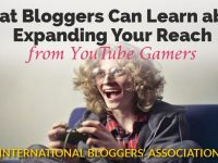 "kid playing video game with text ""Bloggers Can Learn About Expanding their Reach from YouTube Gamers"""
