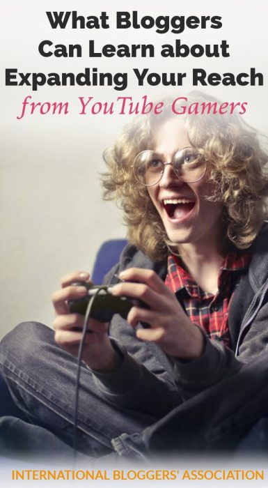 """kid playing video game with text """"Bloggers Can Learn About Expanding their Reach from YouTube Gamers"""""""