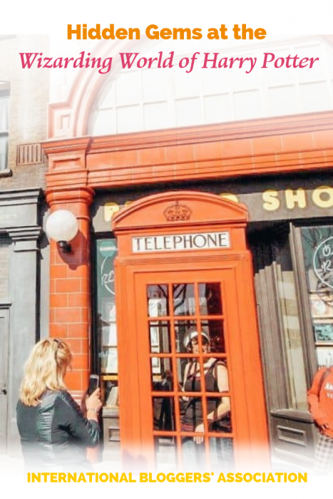 the phone booth at Universal Studios Wizarding World of Harry Potter